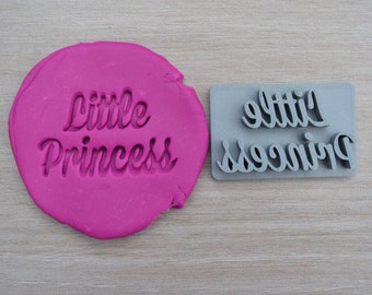 Little Princess Imprint Cookie/Fondant/Soap/Embosser Stamp