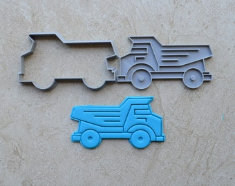 Dump Truck Tip Truck Cookie Fondant Cutter & Stamp Fondant