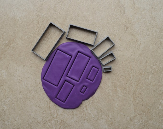 Rectangle Polymer Clay Cutter Set Cookie Fondant Cutters