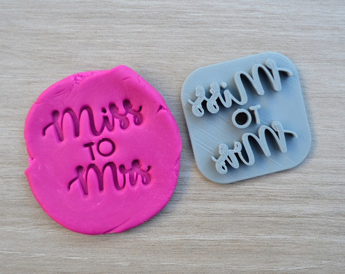 Miss to Mrs Imprint Font 2 Cookie/Fondant/Soap/Embosser Stamp