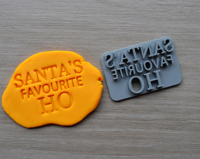 Santas Favourite HO Imprint Cookie/Fondant/Soap/Embosser Stamp