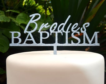 Baptism Custom Personalized Name Cake Topper