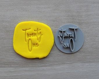 Twenty One Birthday 21st Birthday Imprint Cookie/Fondant/Soap/Embosser Stamp