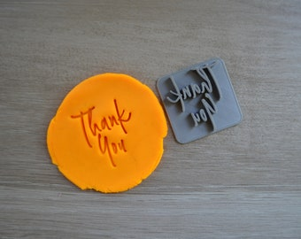 Thank You Imprint Font 4 Cookie/Fondant/Soap/Embosser Stamp