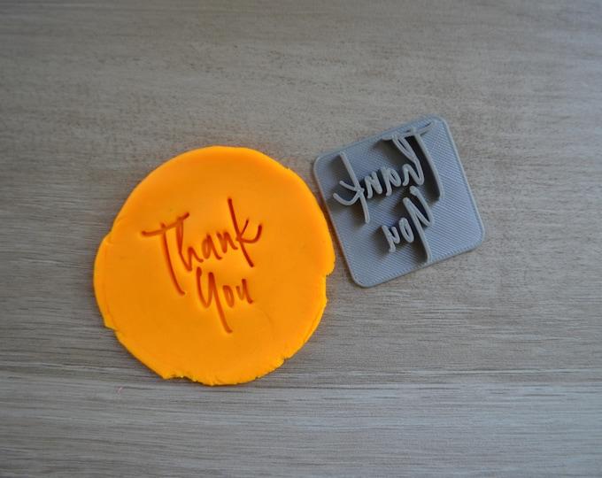 Thank You Imprint Font 4 Cookie/Fondant/Soap/Embosser Stamp