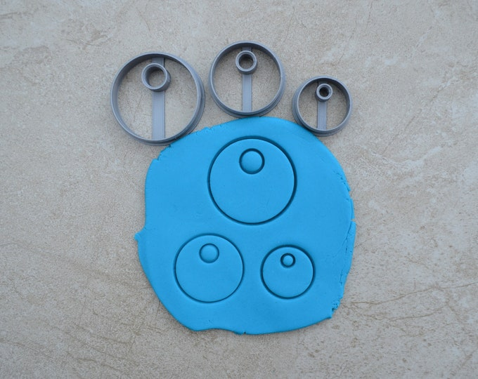 Circle Donut Earring Polymer Clay Cutter Set Cookie Fondant Cutters
