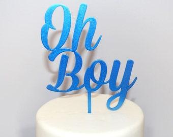 Oh Boy Cake Topper Font 1 - Baby Shower Cake Topper - Baby Boy Cake Topper