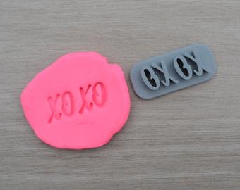 XOXO Imprint 3.1cm Cookie/Fondant/Soap/Embosser Stamp