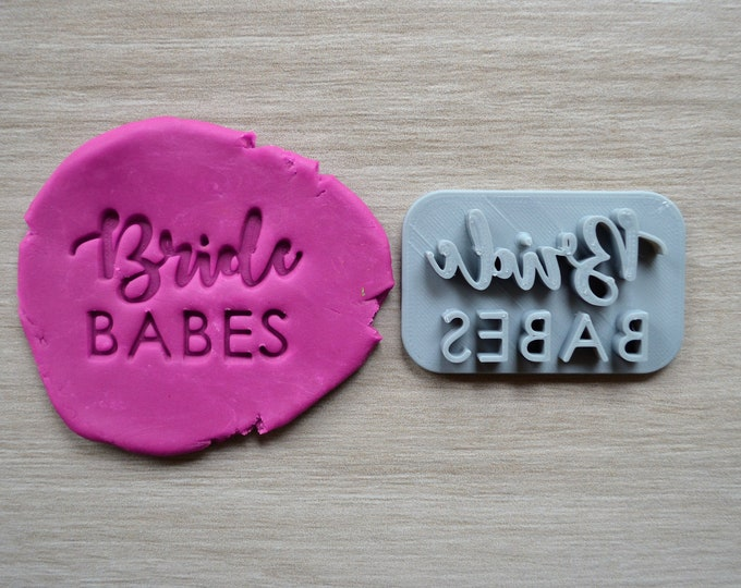 Bride Babes Imprint Cookie/Fondant/Soap/Embosser Stamp