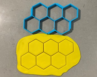 Hexagon Multi Cutter Individual Cookie Cutter Fondant Cutter