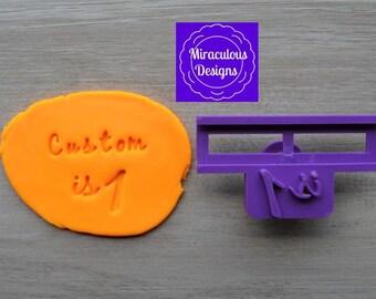 Name Is 1 DIY Stamp/Holder Imprint Wedding Engagement Cookie/Fondant/Soap/Embosser Stamp