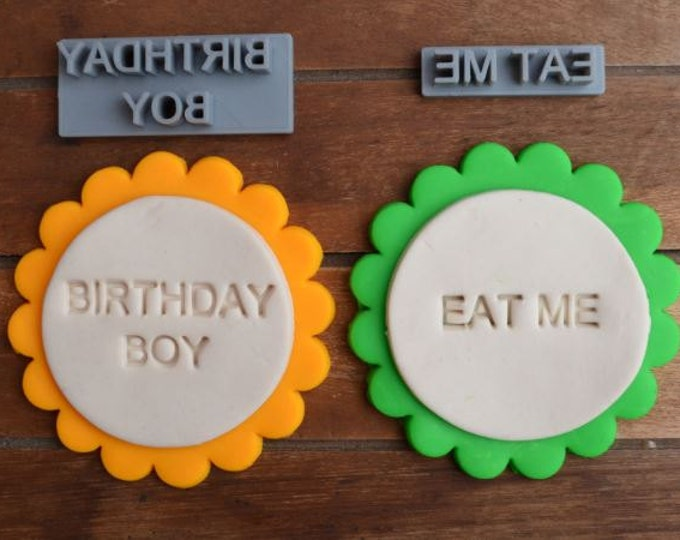 Custom Cookie Fondant Embossing Soap Stamp Personalised