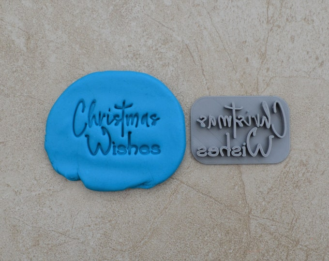 Christmas Wishes Imprint Cookie/Fondant/Soap/Embosser Stamp