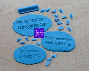 Classic Sets Size 1 - Individual Letters Number Special Characters Cookie Fondant Stamp Embosser