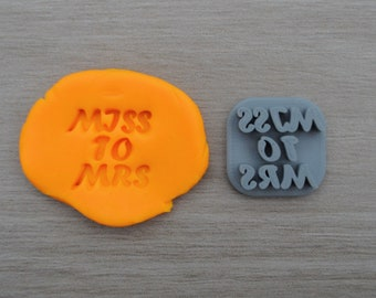 Miss to Mrs Imprint 2.3cm Cookie/Fondant/Soap/Embosser Stamp