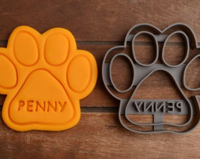 Pet Paw Dog Cat Cookie Cutter Fondant Cutter Party Favor Custom/Personalised