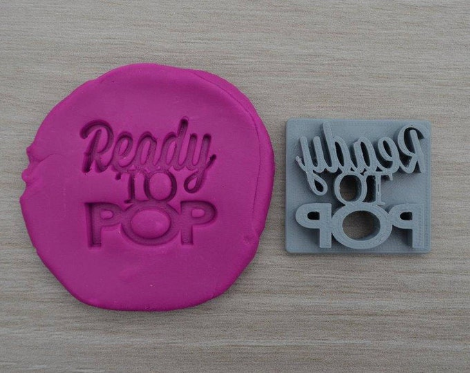 Ready To Pop Imprint Cookie/Fondant/Soap/Embosser Stamp