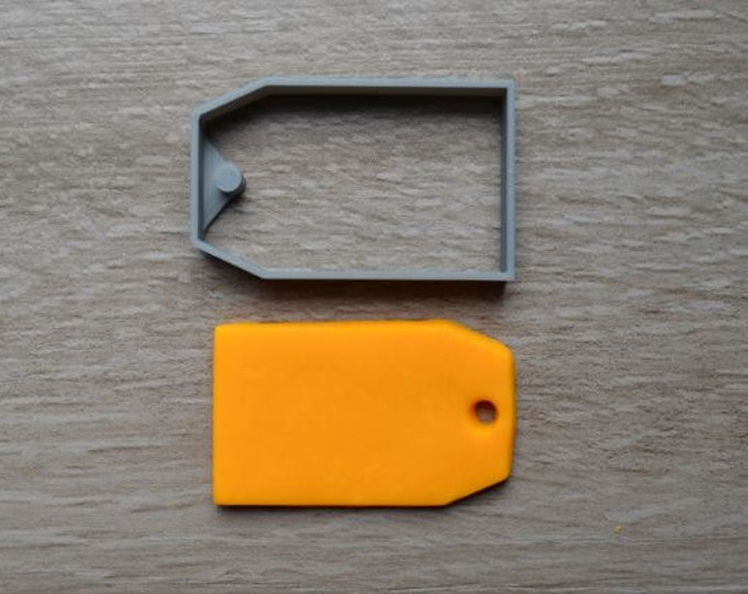 Label or Gift Tag Cookie Cutter Fondant Cutter