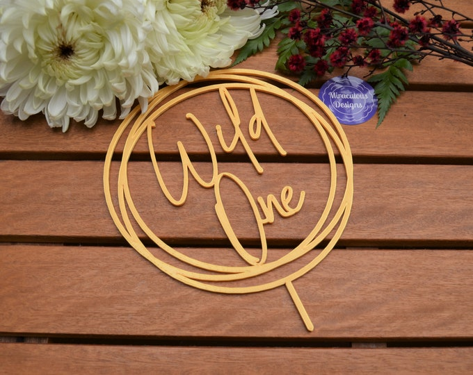 Wild One Ring Cake Topper - 1st Birthday Party - Assorted Colours