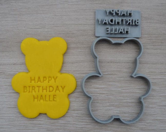 Teddy Bear Shape Birthday Anniversary Engagement Valentine Party Cookie Cutter Fondant Cutter Set Party Favor Custom/Personalised