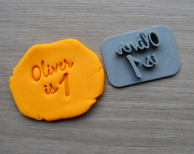 Age 1 Font 2 Custom/Personalized Name Cookie/Fondant/Soap/Embosser Stamp