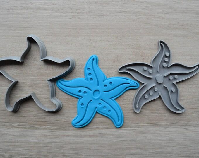 Starfish Cookie Fondant Cutter & Stamp Fondant