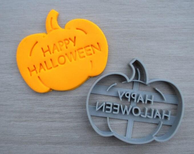 Pumpkin Happy Halloween Cookie Cutter Fondant Cutter