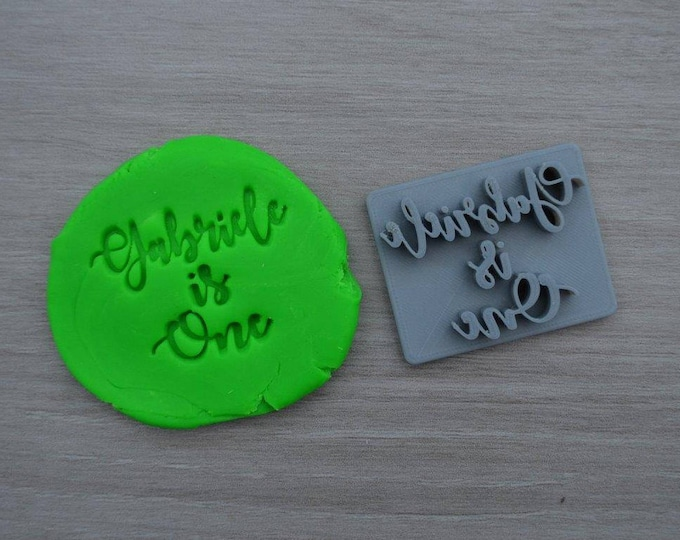 Age One Font 1 Custom/Personalized Name Cookie/Fondant/Soap/Embosser Stamp