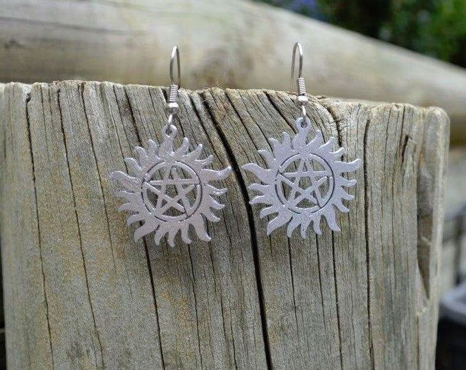 Protection Tattoo Earrings -Pentacle