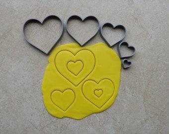Heart Polymer Clay Cutter Set Cookie Fondant Cutters