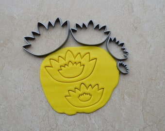 Lotus Flower Polymer Clay Cutter Set Cookie Fondant Cutters