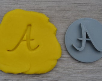 Custom Letter Initial Cookie Fondant Embossing  Stamp Personalised A-Z