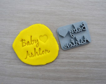 Baby Love Name Imprint Custom Personalized Cookie/Fondant/Soap/Embosser Stamp