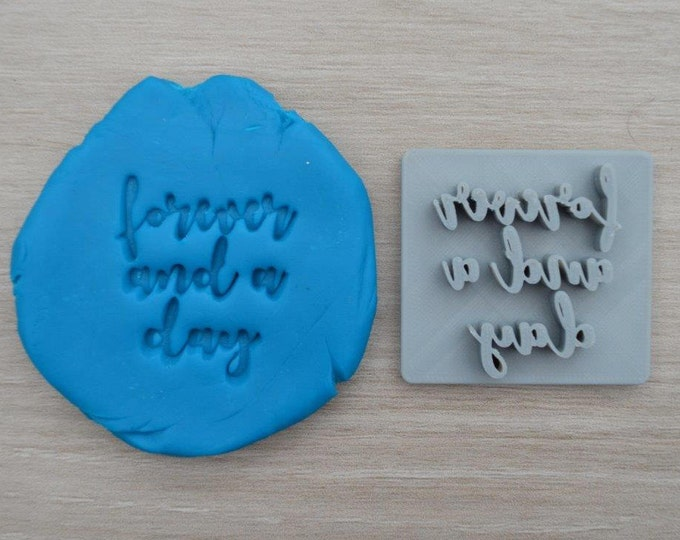 Forever And A Day Imprint Cookie/Fondant/Soap/Embosser Stamp
