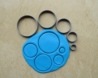 Circle Polymer Clay Cutter Set Cookie Fondant Cutters