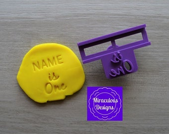 Name Is One DIY Stamp/Holder Imprint Wedding Engagement Cookie/Fondant/Soap/Embosser Stamp
