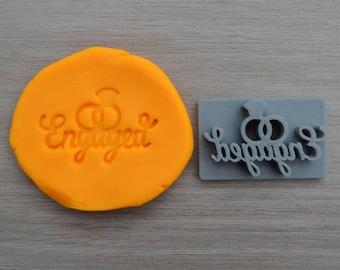 Engaged Font 1 Imprint Cookie/Fondant/Soap/Embosser Stamp