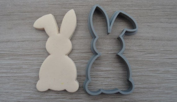 Bunny Rabbit Easter Outline Cookie Cutter Fondant Cutter