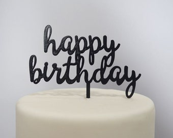 Happy Birthday Cake Topper - Assorted Colours