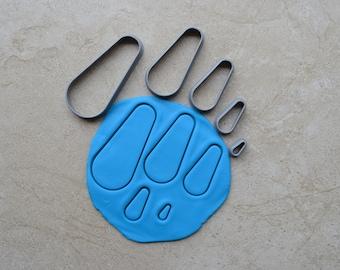 Drop Polymer Clay Cutter Set Cookie Fondant Cutters