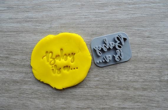 Baby Is A.... Gender Reveal Boy Girl Imprint Cookie/Fondant/Soap/Embosser Stamp
