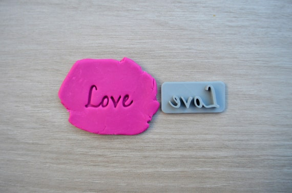 Love Font 3 Imprint Cookie/Fondant/Soap/Embosser Stamp