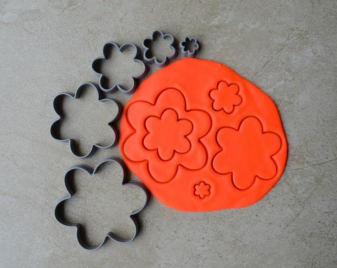 Flower Polymer Clay Cutter Set Cookie Fondant Cutters