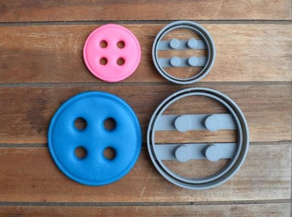 Button Set Cookie Cutter Fondant Cutter