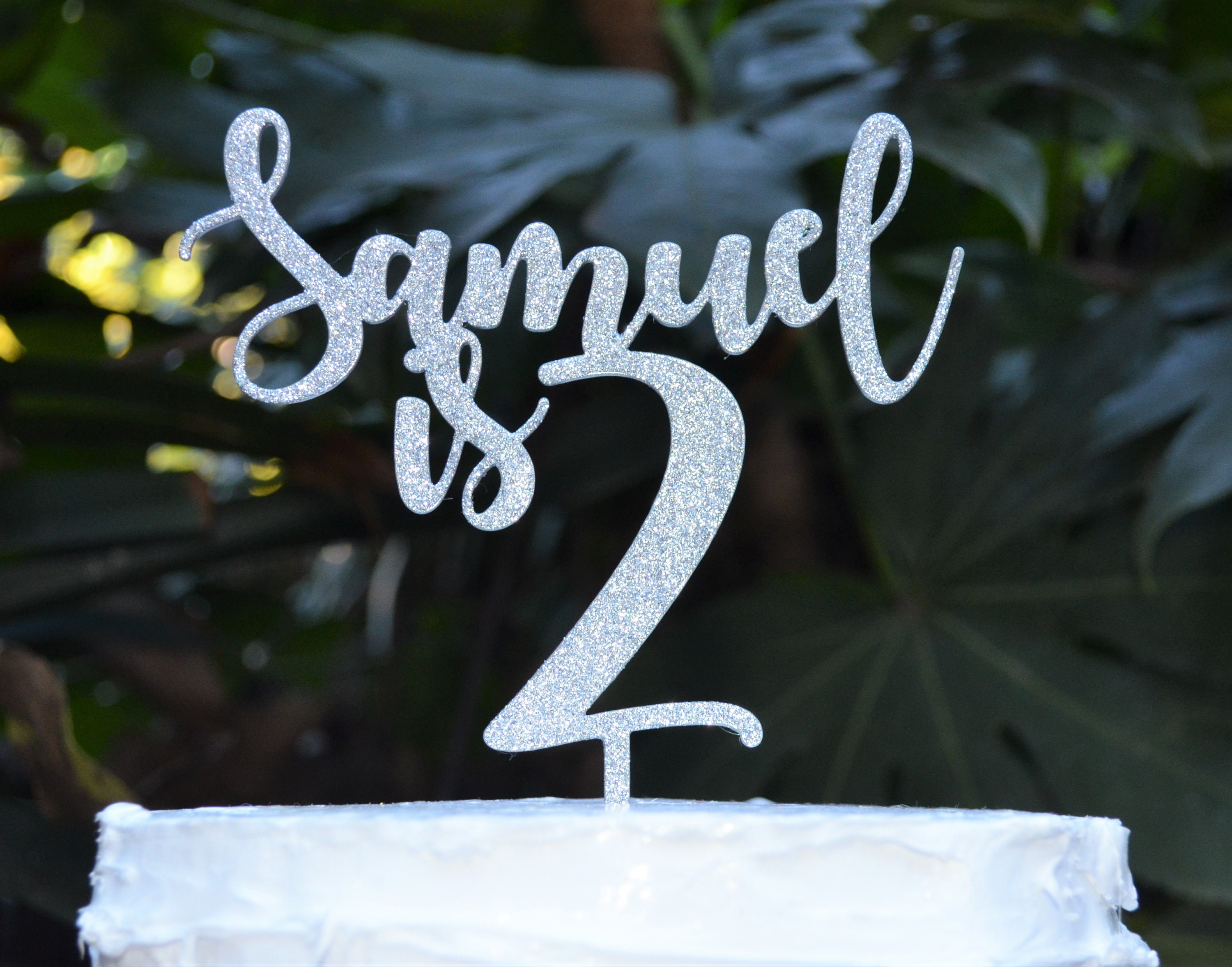 Age 2 Custom Personalized Name Birthday Cake Topper