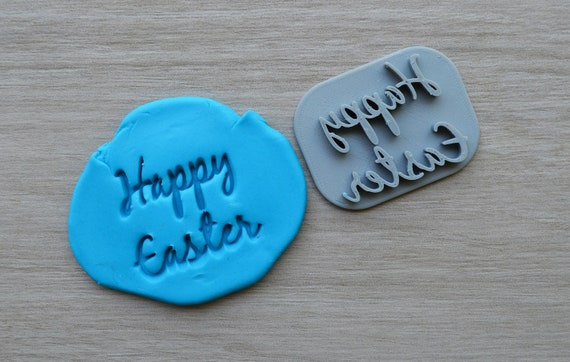 Happy Easter Font 2 Imprint Cookie/Fondant/Soap/Embosser Stamp