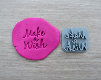 Make a Wish Imprint Cookie/Fondant/Soap/Embosser Stamp