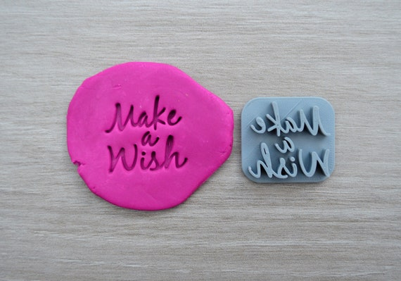 Make a Wish Imprint Cookie/Fondant/Soap/Embosser Stamp