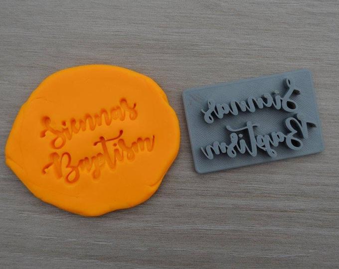 Baptism Custom Name Imprint Personalized Cookie/Fondant/Soap/Embosser Stamp