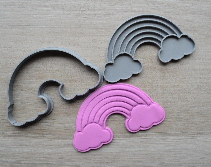 Rainbow Cookie Fondant Cutter & Stamp Fondant